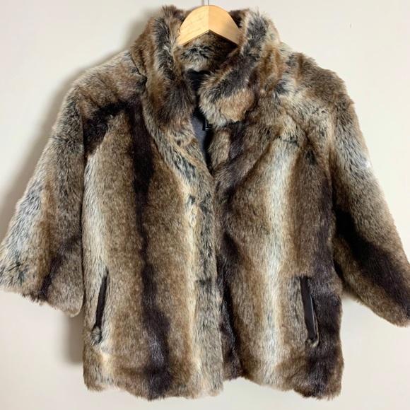 Forever 21 Brown Faux Fur Jacket